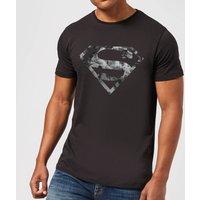 DC Originals Marble Superman Logo Men's T-Shirt - Black - XS
