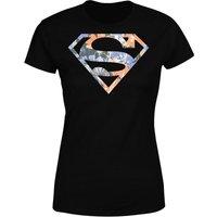DC Originals Floral Superman Women's T-Shirt - Black - XXL - Black - Dc Gifts