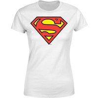 DC Originals Official Superman Shield Women's T-Shirt - White - XXL - White - Superhero Gifts