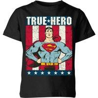 DC Originals Superman True Hero Kids' T-Shirt - Black - 3-4 Years - Black - Superhero Gifts