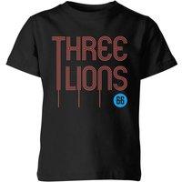 Three Lions Kids' T-Shirt - Black - 11-12 Years - Black