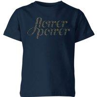 My Little Rascal Flower Power Kids' T-Shirt - Navy - 9-10 Years - Navy
