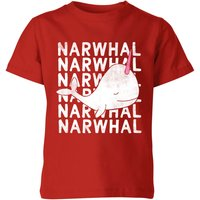 My Little Rascal Narwhal Kids' T-Shirt - Red - 5-6 Years - Red