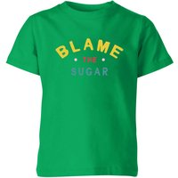 My Little Rascal Blame The Sugar Kids' T-Shirt - Kelly Green - 11-12 Years - Kelly Green - Sugar Gifts
