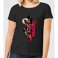 Marvel Deadpool Lady Deadpool Women's T-Shirt - Black - M - Black