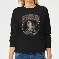 Marvel Deadpool Vintage Circle Women's Sweatshirt - Black - M - Black