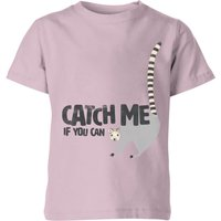 My Little Rascal Catch Me If You Can - Baby Pink Kids' T-Shirt - 11-12 Years - Baby Pink - Baby Gifts