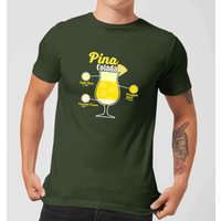 Infographic Pinacolada Men's T-Shirt - Forest Green - XL - Forest Green
