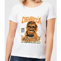 Star Wars Chewbacca One Night Only Women's T-Shirt - White - XXL - White - Star Wars Gifts