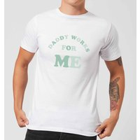 My Little Rascal Daddy Works For Me Men's T-Shirt - White - L - White