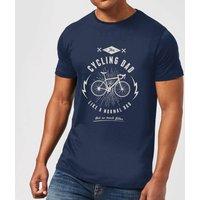 Cycling Dad Mens T-Shirt - Navy - L