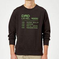 Dad Level Up Sweatshirt - Black - XL - Black