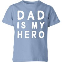My Little Rascal Dad Is My Hero - Baby Blue Kids' T-Shirt - 11-12 Years - Baby Blue - Baby Gifts