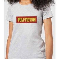 Pulp Fiction Logo Women's T-Shirt - Grey - L - Grey