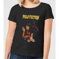 Pulp Fiction Poster Women's T-Shirt - Black - XXL - Black - Poster Gifts