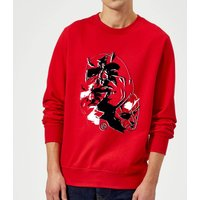 Marvel Knights Daredevil Layered Faces Sweatshirt - Red - XXL - Red