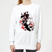 Marvel Knights Daredevil Layered Faces Women's Sweatshirt - White - XXL - White