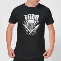 Marvel Thor Ragnarok Thor Hammer Logo Men's T-Shirt - Black - XS - Black