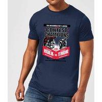 Marvel Thor Ragnarok Champions Poster Men's T-Shirt - Navy - XXL - Navy - Poster Gifts