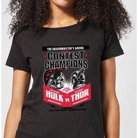 Marvel Thor Ragnarok Champions Poster Women's T-Shirt - Black - S - Black
