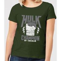 Marvel Thor Ragnarok Hulk Champion Women's T-Shirt - Forest Green - L - Forest Green