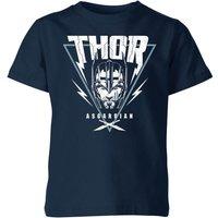 Marvel Thor Ragnarok Asgardian Triangle Kids' T-Shirt - Navy - 7-8 Years - Navy - Clothing Gifts