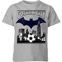 DC Batman Football Gotham City Kids' T-Shirt - Grey - 11-12 Years - Grey - Football Gifts