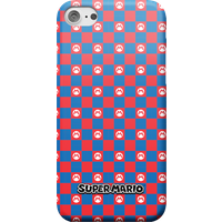 Nintendo Super Mario Checkerboard Pattern Phone Case - iPhone XR - Snap Case - Matte