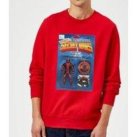 Marvel Deadpool Secret Wars Action Figure Sweatshirt - Red - S - Red