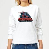 Marvel Deadpool Sword Logo Women's Sweatshirt - White - XL - White