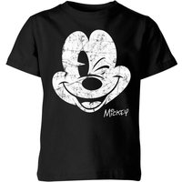 T-Shirt Disney Worn Face - Nero - Bambini - 9-10 Anni - Nero