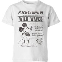 Disney Retro Poster Wild Waves Kids' T-Shirt - White - 5-6 Years - White - Poster Gifts