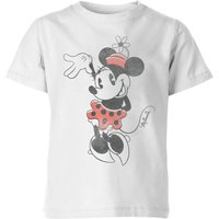 Disney Minnie Mouse Waving Kids' T-Shirt - White - 5-6 Years - White