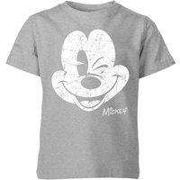 Disney Worn Face Kids' T-Shirt - Grey - 3-4 Years - Grey