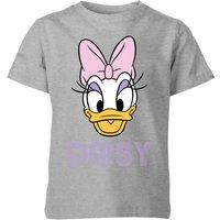 Disney Daisy Face Kids' T-Shirt - Grey - 9-10 Years - Grey