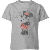 Disney Minnie Mouse Waving Kids' T-Shirt - Grey - 7-8 Years - Grey