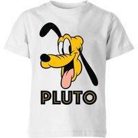 Disney Pluto Face Kids' T-Shirt - White - 7-8 Years - White