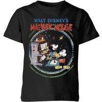 Disney Retro Poster Piano Kids' T-Shirt - Black - 11-12 Years - Black - Music Gifts