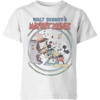 Disney Retro Poster Piano Kids' T-Shirt - White - 5-6 Years - White - Music Gifts