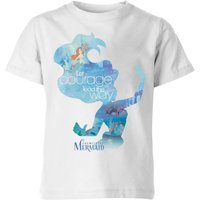 Disney Princess Filled Silhouette Ariel Kids' T-Shirt - White - 7-8 Years - White