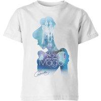 Disney Princess Filled Silhouette Cinderella Kids' T-Shirt - White - 11-12 Years
