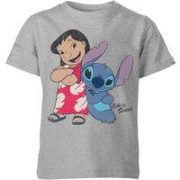 Disney Lilo & Stitch Classic Kids' T-Shirt - Grey - 7-8 Years - Grey