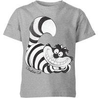 Disney Alice In Wonderland Cheshire Cat Mono Kids' T-Shirt - Grey - 3-4 Years - Grey
