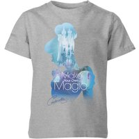 Disney Princess Filled Silhouette Cinderella Kids' T-Shirt - Grey - 7-8 Years - Grey - Disney Gifts