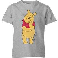 Disney Winnie The Pooh Classic Kids' T-Shirt - Grey - 3-4 Years - Grey