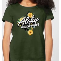 Aloha Beach Vibes Women's T-Shirt - Forest Green - XXL - Forest Green