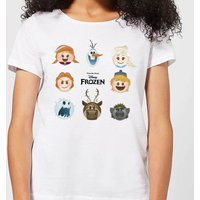 Disney Frozen Emoji Heads Women's T-Shirt - White - M - White