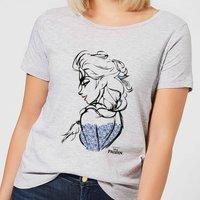 Disney Frozen Elsa Sketch Women's T-Shirt - Grey - 5XL