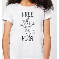 Disney Frozen Olaf Free Hugs Women's T-Shirt - White - L