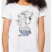 Disney Frozen Elsa Sketch Strong Women's T-Shirt - White - 4XL - White